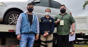 Doação: Balneário Piçarras recebe veículo da Polícia Rodoviária Federal